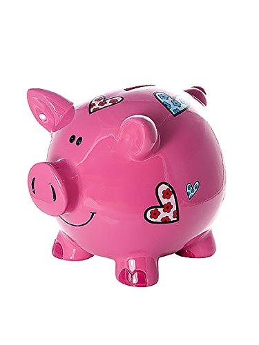 achat grand tirelire cochon avec coeurs pour enfants et adultes filles. Black Bedroom Furniture Sets. Home Design Ideas