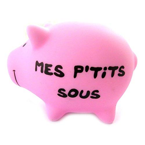 Les-Trsors-De-Lily-N2715-Tirelire-rsine-Sacr-Cochon-rose-Mes-Ptits-sous-0