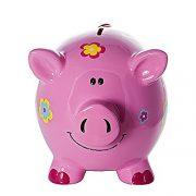 Grande-Tirelire-Cochon-avec-des-Fleurs-pour-Enfants-et-Adultes-Filles-0-0