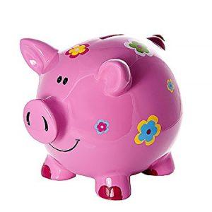 Grande-Tirelire-Cochon-avec-des-Fleurs-pour-Enfants-et-Adultes-Filles-0
