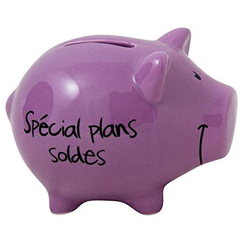 Bonne-ide-cadeau-Tirelire-Cochon-Spcial-Plans-Soldes-Violet-fonc-0
