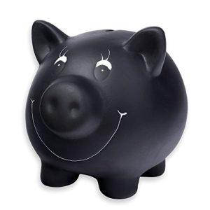 schramm-Tirelire-en-cramique-avec-tableau-noir-vernis-conomie-dcriture-avec-craie-Cochon-Porcs-avec-craie-et-verrouillable-0