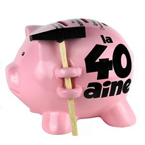 Tirelire-Cochon--Casser-15x15cm-40-ans-0