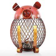 Tooarts-Cochon-Tirelire-en-Mtal-Sculpture-en-Mtal-Money-Bank-Tirelire-Cadeau-0