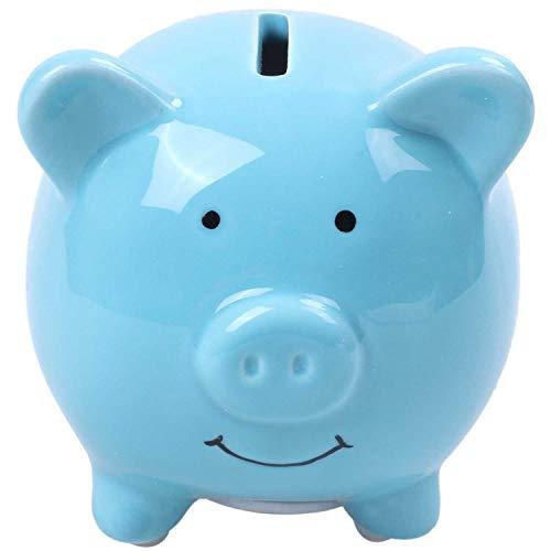 SODIAL-Piggy-Banques-pour-Enfants-Matriel-en-Cramique-Joli-Cochon-pour-La-Dcoration-Cadeau-de-Chambre-de-Bb-Bleu-0