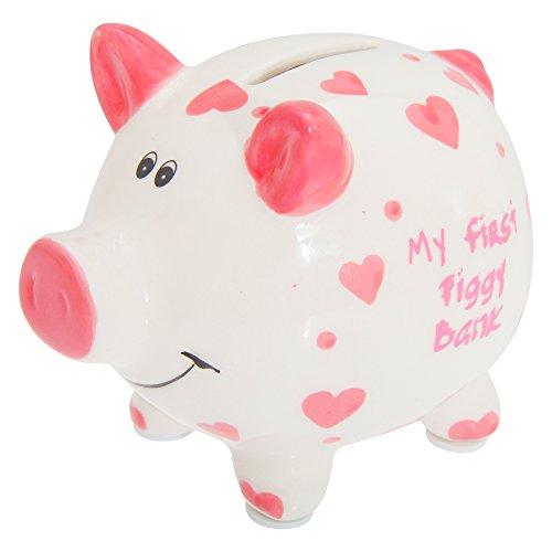 Tirelire-Lesser-Pavey-FilleGaron-My-First-Piggy-Bank-rose-Taille-unique-0